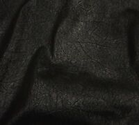"""Upholstery  Black on Black Distressed Look Faux Vinyl Fabric 55"""" wide"""