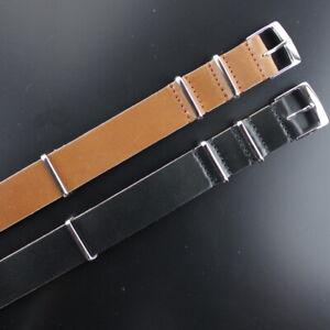 Manufaktur Leder Natoband, Uhrband 20mm, L 280mm, Made in Germany