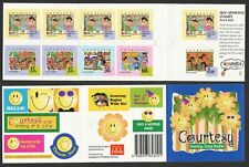 Singapore 1997 Greeting Courtesy with complete 5v of 10 stamps 5 Booklet