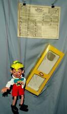 "NOS DISNEY 1960's ""PINOCCHIO PELHAM PUPPET"" # SL7+ 3PIECE BOX+ORIG.INSTRUCTIONS"