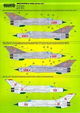 Model Maker Decals 1/48 MIKOYAN MiG-21PF MiG-21PFM in Polish Service Part 1
