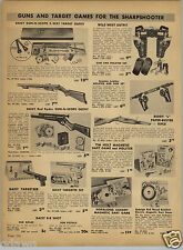 1952 PAPER AD Daisy Red Ryder BB Gun Air Rifle Scope Target Buddy L Cap Rifle