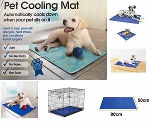 COOL MAT SHELF PET DOG CAT COOLING GEL MAT PAD BED MATTRESS HEAT RELIEF 50x 91cm