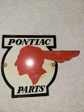 VINTAGE PONTIAC PORCELAIN SIGN PARTS DEALER SIGN GENERAL MOTORS GTO AUTOMOBILE