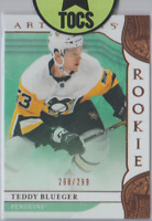 Teddy Blueger 2019-20 Artifacts Copper Numbered Rookie 268/299 Penguins