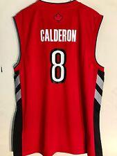 Adidas NBA Jersey Toronto Raptors Calderon Red sz M