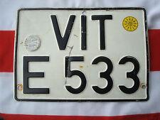 Ori. altes Kennzeichen Nummernschild ..... DEUTSCHLAND.......... 1967 VIT E 533
