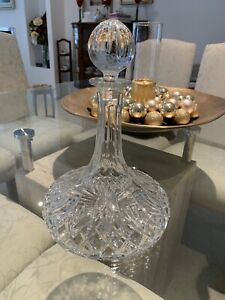 Beautiful Heavy Large Crystal Decanter