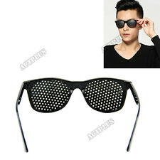 Anti-fatigue Vision Care Stenopeic Pinhole Glasses  Eyesight Improver Black ACT