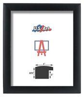 "US ART Frames 1"" Black Nugget Satin Real Poplar Wood Picture Poster Frame S-13"""