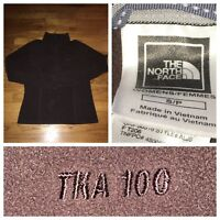 THE NORTH FACE Women's Brown 1/2 Zip 100 TKA Fleece JACKET Size Small