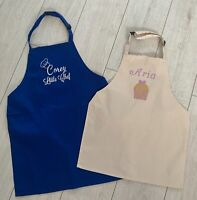 Personalised kids apron baking chef kitchen cooking children's boy girl any name