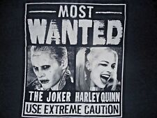 The Joker Harley Quinn Most Wanted Use Extreme Caution T-Shirt Womans XL