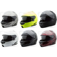 Gmax Adult GM64 Solid Modular Motorcycle Street Helmet - Pick Size & Color