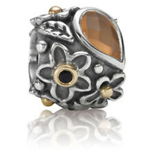 NEW AUTHENTIC PANDORA 14K GOLD ORANGE MOONSTONE ONYX DEW DROPS *NEW* 790540M