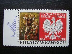 Slania; Poland Poles in Sweden  MNH Signed !