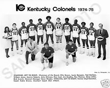 1974-75 KENTUCKY COLONELS ABA BASKETBALL TEAM 8X10 PHOTO