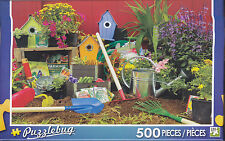 NEW Puzzlebug 500 Piece Jigsaw Puzzle ~ Colorful Garden Tools  FREE SHIPPING