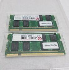 4GB Kit Transcend DDR2 800MHz SODIMM PC2 6400 CL6 Laptop Memory Module 2 X 2GB