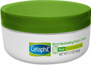 CETAPHIL Rich Hydrating Cream for Face | With Hyaluronic Acid | 1.7 oz (48 g)
