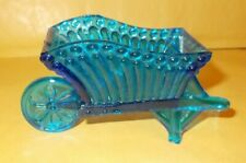 BLUE GLASS WHEELBARROW
