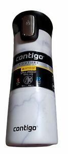 Contigo Couture Vacuum Insulated Stainless Steel Water Bottle 14oz White Marble