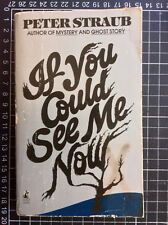 IF YOU COULD SEE ME NOW Peter Straub rare US Paperback Ed Stephen King from Hell