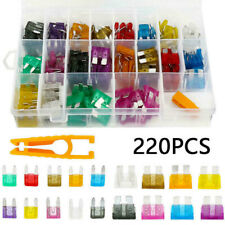 220Pcs Mixed Car Boat Blade Fuse Assortment Assorted Kit Blade Set Accessories