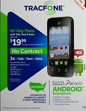 TRACFONE ALCATEL ONETOUCH PIXI GLITZ 4G WI-FI ANDROID 4.4 KITKAT SMARTPHONE
