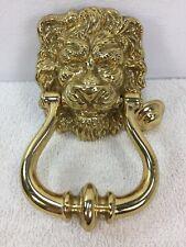 """Brass Lion Head Door Knocker Home Brass Door Knocker 5.5"""" long"""