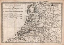 """Hollande prise en général…"" 7 United provinces. Netherlands. BONNE c1780 map"