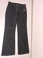 Baby Phat Dark Denim Jeans Stretch M F1390 EUC Fall Pants Flat No Back Pockets