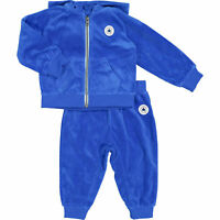 CONVERSE Baby 2-piece Valour Tracksuit, Hooded Jacket & Pants, Laser Blue, 18m