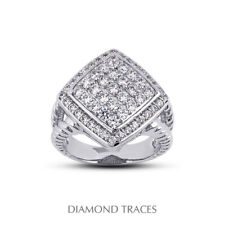 Certified Diamonds 950 Plat. Right Hand Ring 1 Ctw E Vs1 Round Cut Earth Mined