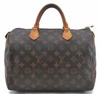 Authentic Louis Vuitton Monogram Speedy 30 Hand Bag M41526 LV C2295