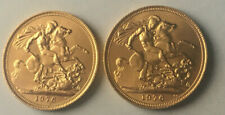 More details for two 22ct gold 1976 full sovereign coins