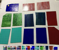 """#006 Lot Of 13 MIX Pieces 6x4""""+/- Stained Glass Sheet SHIPS FREE PicsR Like uGET"""