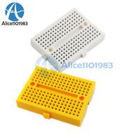 Mini White Solderless Prototype Breadboard Yellow 170 Tie-points Shield