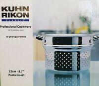 Kuhn Rikon Classic Topf,Kasserolle,ø22cm,NEU OVP, Induktion,4.8L,Pasta Einsatz