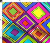 Wild Loud Hippy Bright Colors Pucci Geometric Spoonflower Fabric by the Yard