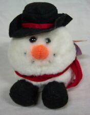 "Puffkins FLURRY THE SNOWMAN 5"" Plush STUFFED ANIMAL Toy"