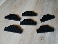 LEGO - X6 Lego Platform Parts Black Rare Unique Shape Plate