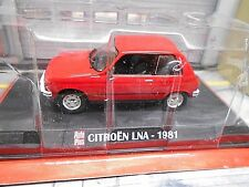 CITROEN LNA Kleinwagen 1981 rot red 3 Türer Altaya IXO Auto Plus 1:43