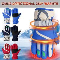Winter Waterproof Warm Kids Gloves Stretch Ski Children Mittens Snow Outdoor USA
