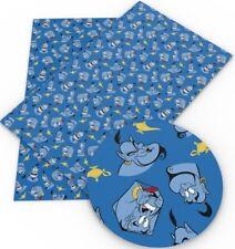 "Genie FAUX LEATHER SHEET 8 x 12"" WHOLESALE Printed 1089523 Princess Jasmine"