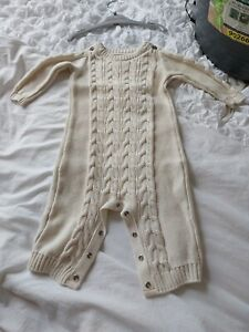 Cream Aaron Knitted All In One. Asda. 3 To 6 Months
