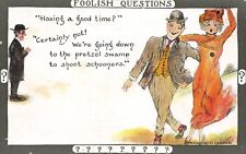 Cobb Shinn Foolish Questions~Party Couple~Minister: Having A Good Time? 1910