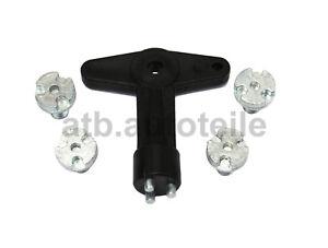 Sicherungsschlüssel Felgenschloß Felgenschlüssel Felgendeckel Schlüssel Opel