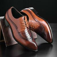 New Fashion Chic Men's Dress Formal Oxfords Leather shoes Business Classic Shoes