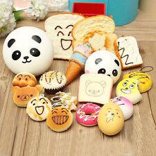 10Pcs Squishy Lot Toast Bread Smell Cell Phone Strap Jumbo Panda Bun Kits  Cute